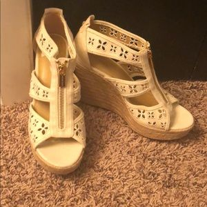 White Michale Kors wedges!
